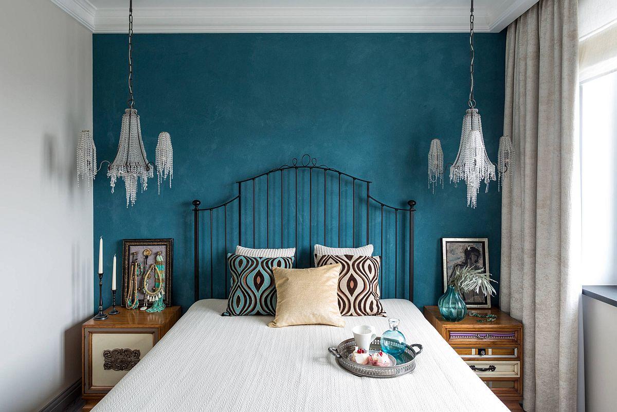 """Những căn phòng ngủ nhỏ đẹp """"thần thái"""" nhờ cách kết hợp màu sắc táo bạo - Ảnh 6."""