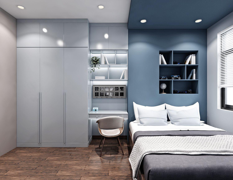 Tư vấn thiết kế nội thất căn hộ chung cư 100m² ở Bình Dương theo phong cách hiện đại, tối giản với chi phí 78 triệu - Ảnh 11.