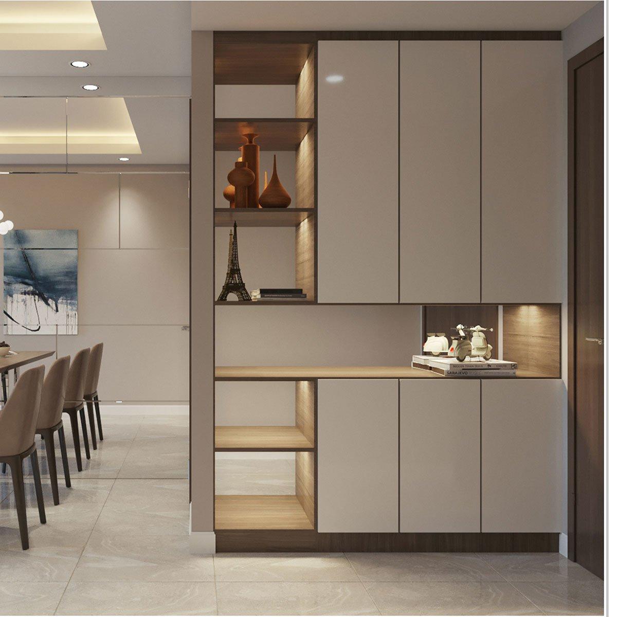 Tư vấn thiết kế nội thất căn hộ chung cư 100m² ở Bình Dương theo phong cách hiện đại, tối giản với chi phí 78 triệu - Ảnh 3.