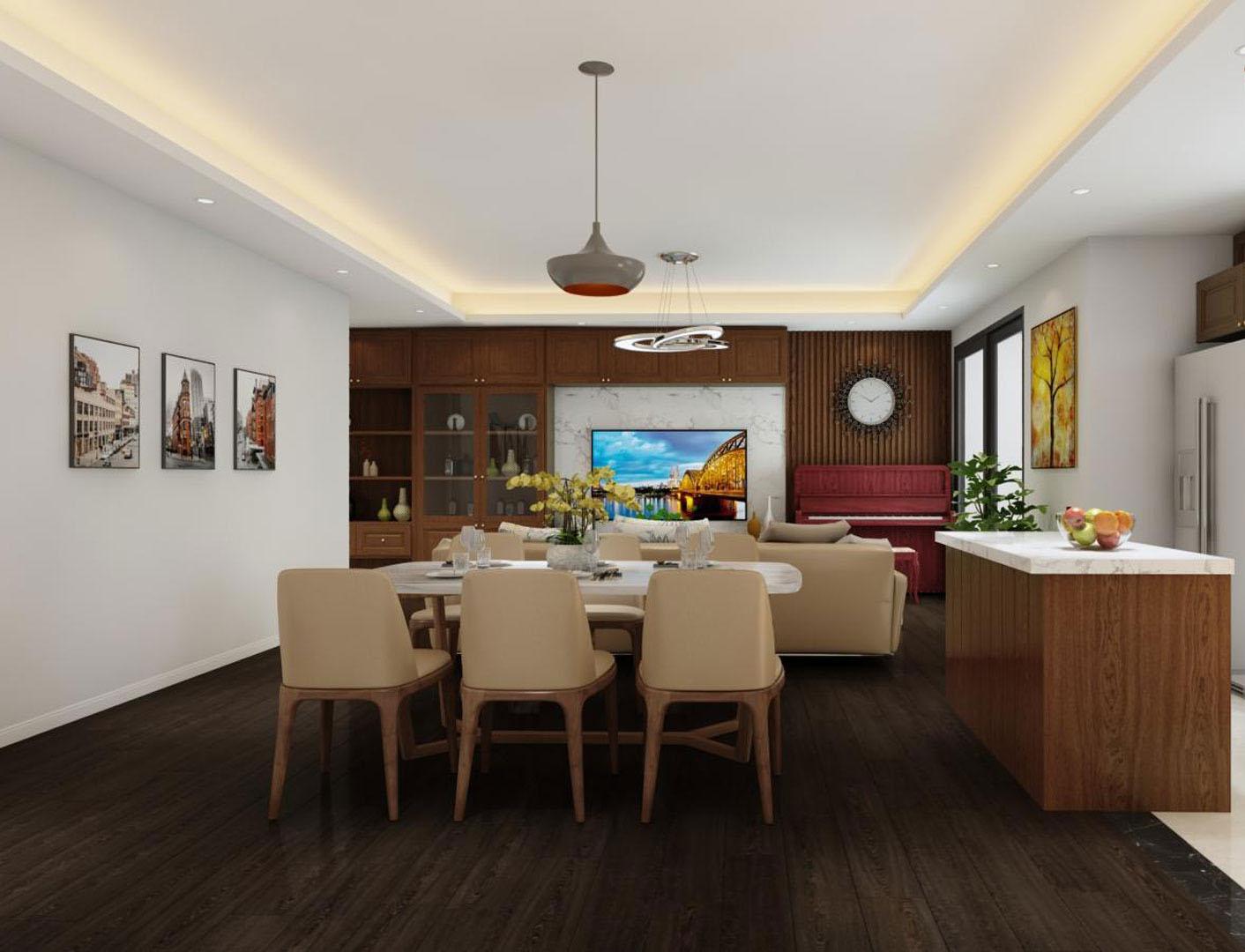 Tư vấn thiết kế nội thất căn hộ chung cư 100m² ở Bình Dương theo phong cách hiện đại, tối giản với chi phí 78 triệu - Ảnh 8.