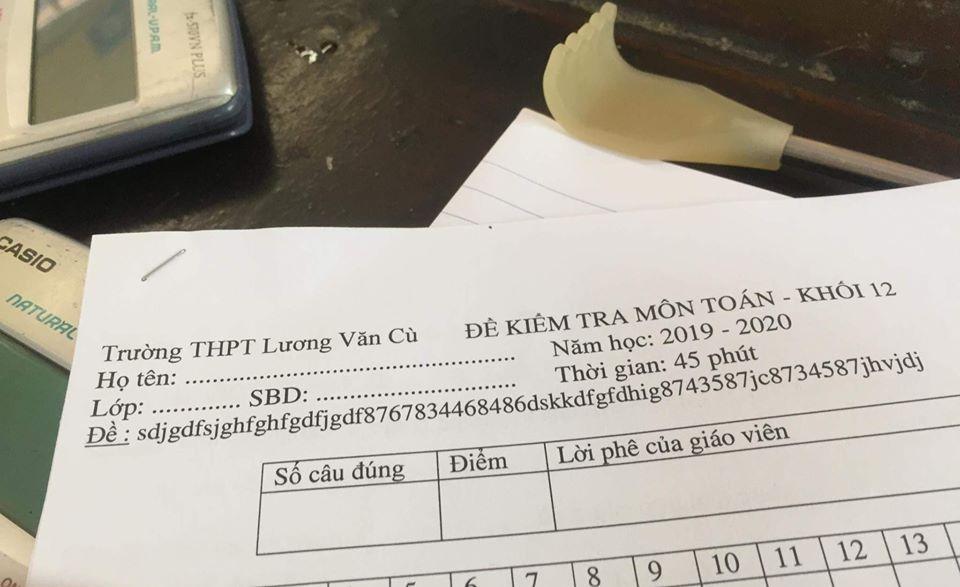 Thêm một minh chứng cho IQ cao siêu của thầy cô giáo, nhìn mã đề thi môn Toán đã đủ khiến học sinh vã mồ hôi hột - Ảnh 1.