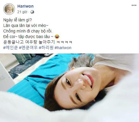 """Đăng ảnh ở nhà một mình, Hari Won không quên """"cà khịa"""" ông xã Trấn Thành - Ảnh 2."""