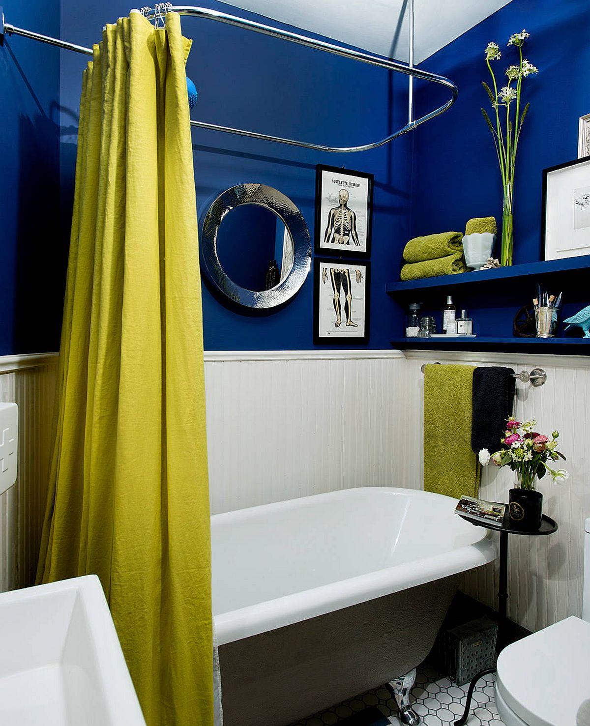 """Decor phòng tắm mùa hè """"mát lịm"""" với tông màu trắng - xanh - Ảnh 10."""