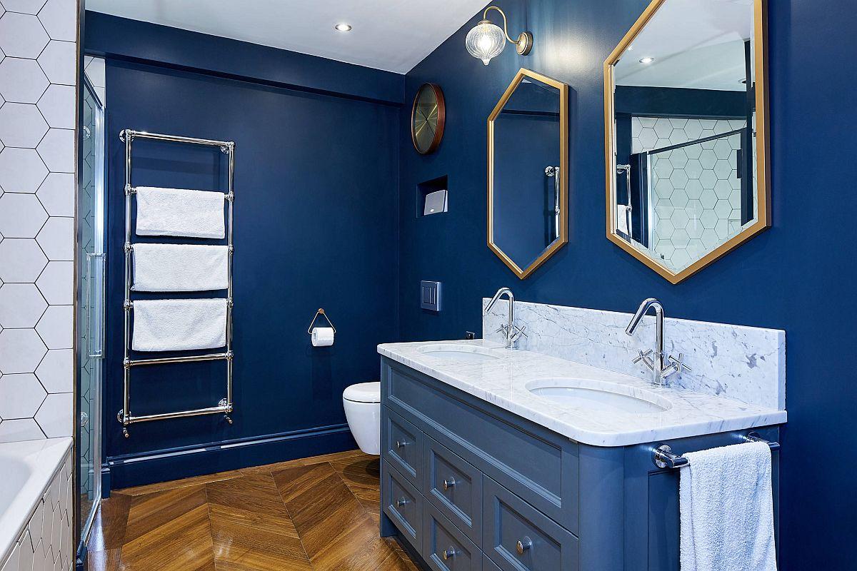 """Decor phòng tắm mùa hè """"mát lịm"""" với tông màu trắng - xanh - Ảnh 9."""
