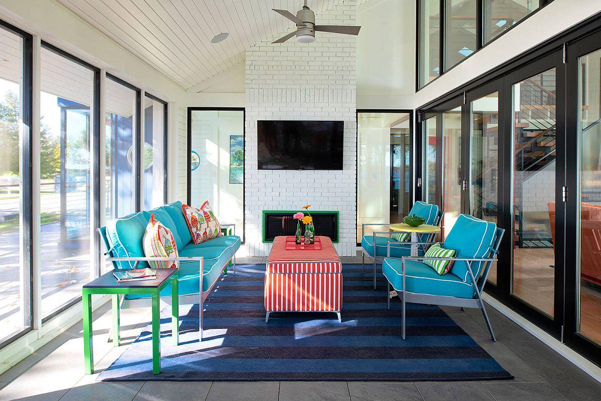 Sắc màu tạo sức sống cho căn phòng hứng nắng đón mùa hè - Ảnh 3.