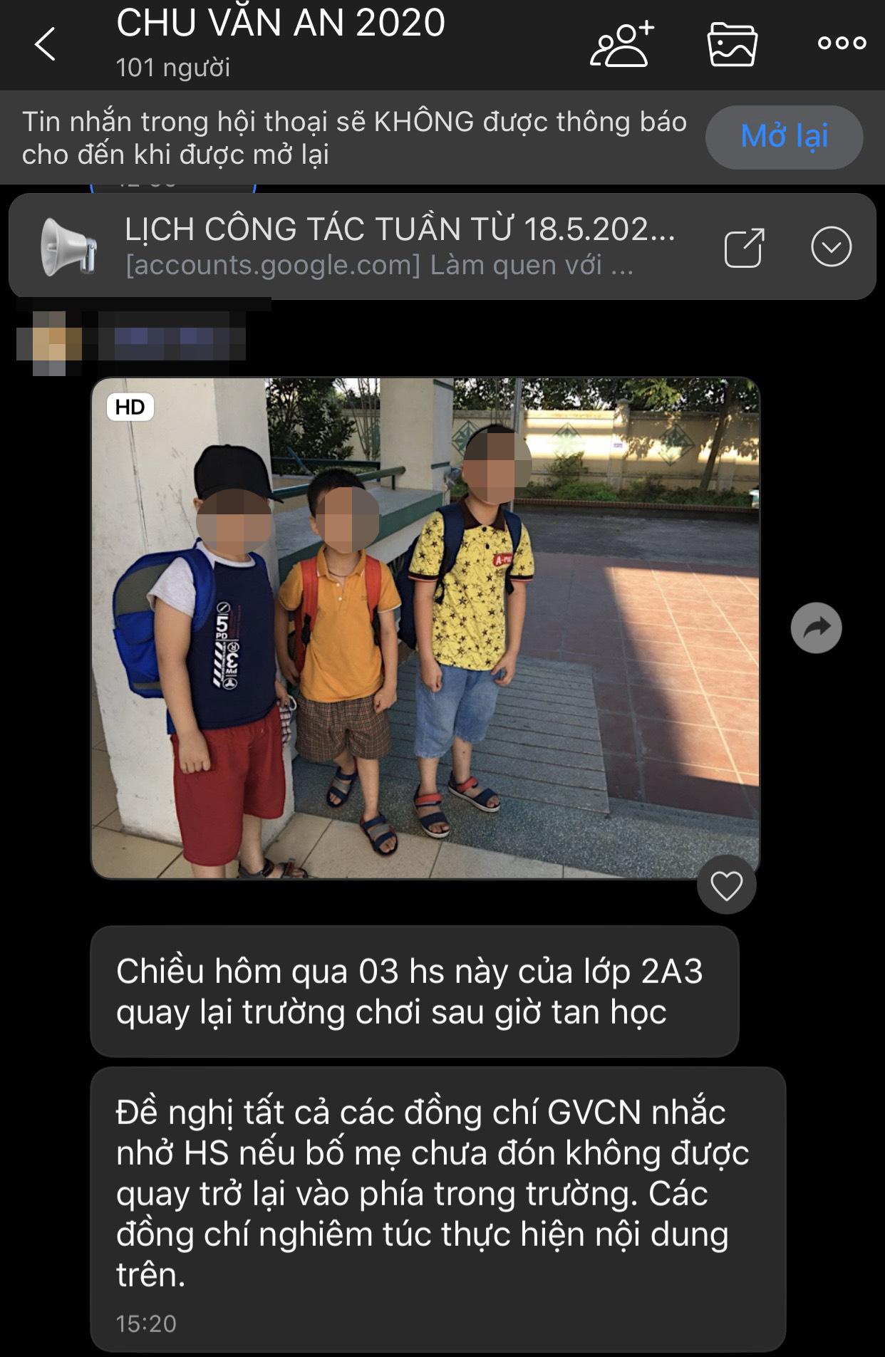 """Phụ huynh ở Hà Nội phản ánh cô giáo """"không cho học sinh quay lại trong trường"""" khiến con gái phải lang thang ngoài đường sau giờ tan học  - Ảnh 5."""
