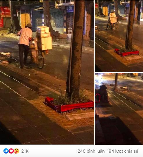 Chiếc bánh bao nóng hổi của người bán hàng rong trong đêm mưa gió ở Hà Nội và câu chuyện phía sau khiến nhiều người xúc động mạnh - Ảnh 1.