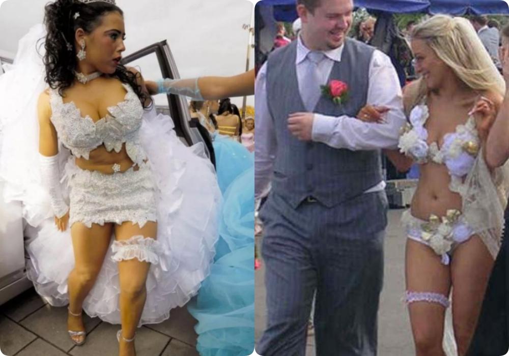 """Tuyển tập những bộ váy cưới """"độc - dị"""" khó cảm, có những pha còn khiến dân tình ngán ngẩm - Ảnh 7."""