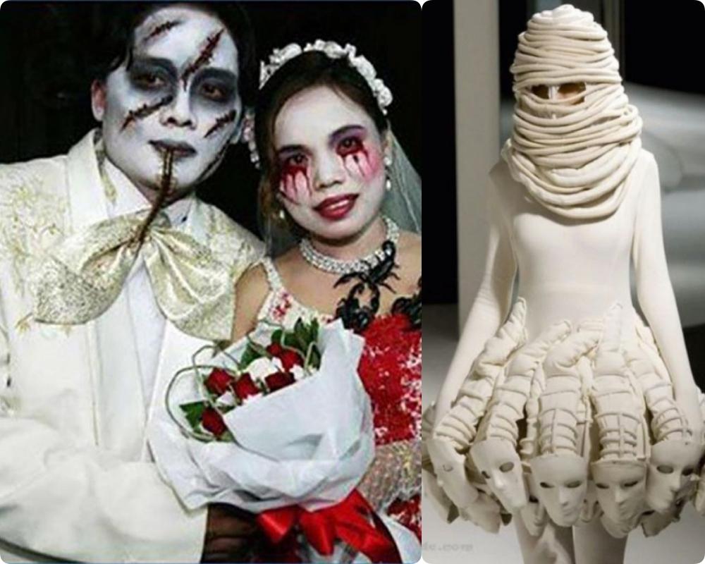 """Tuyển tập những bộ váy cưới """"độc - dị"""" khó cảm, có những pha còn khiến dân tình ngán ngẩm - Ảnh 11."""