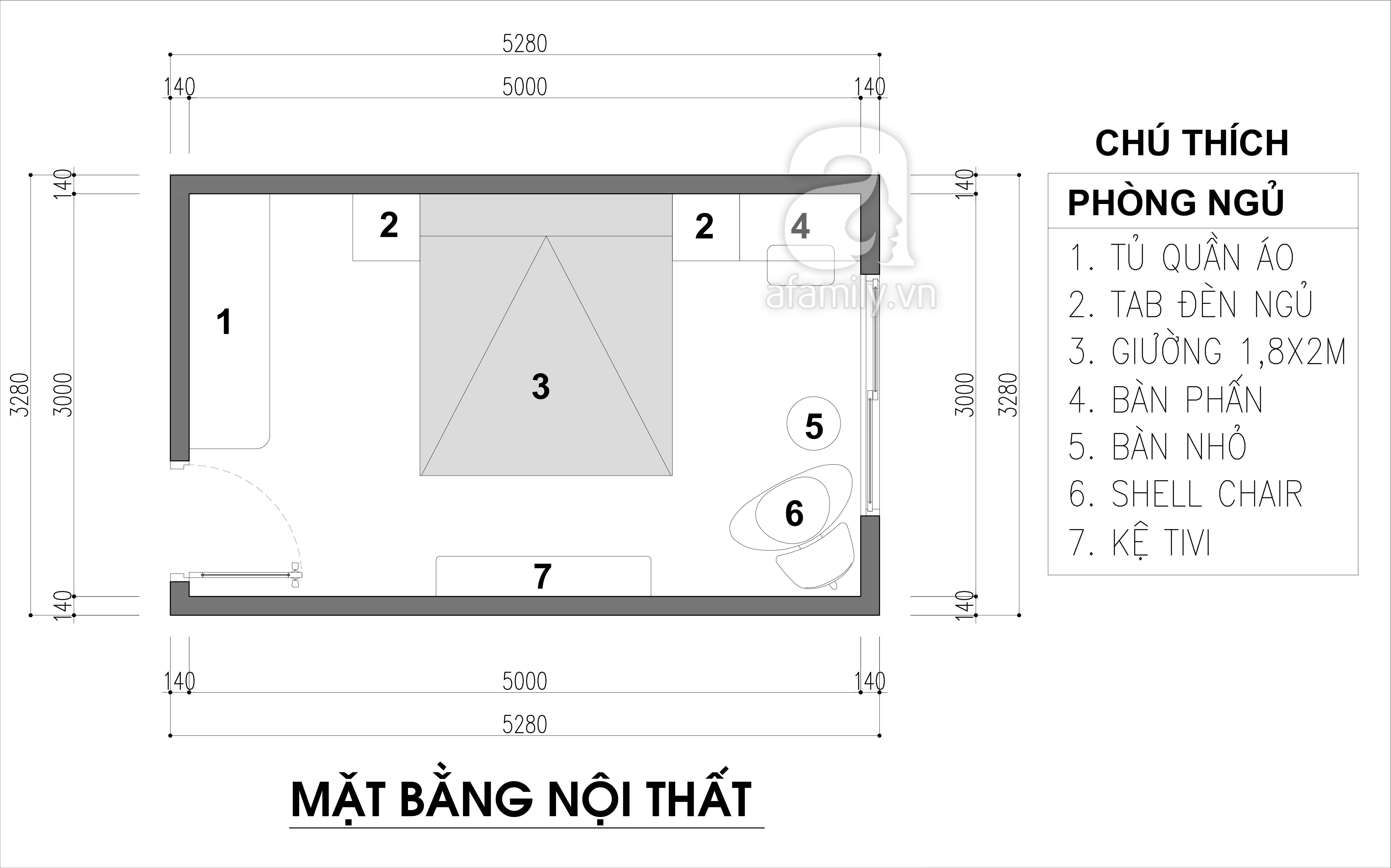 Ý tưởng thiết kế nội thất phòng ngủ diện tích 15m² với tổng chi phí 20 triệu đồng - Ảnh 2.