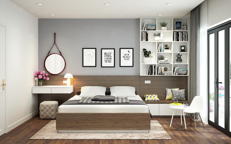 Ý tưởng thiết kế nội thất phòng ngủ diện tích 15m² với tổng chi phí 20 triệu đồng