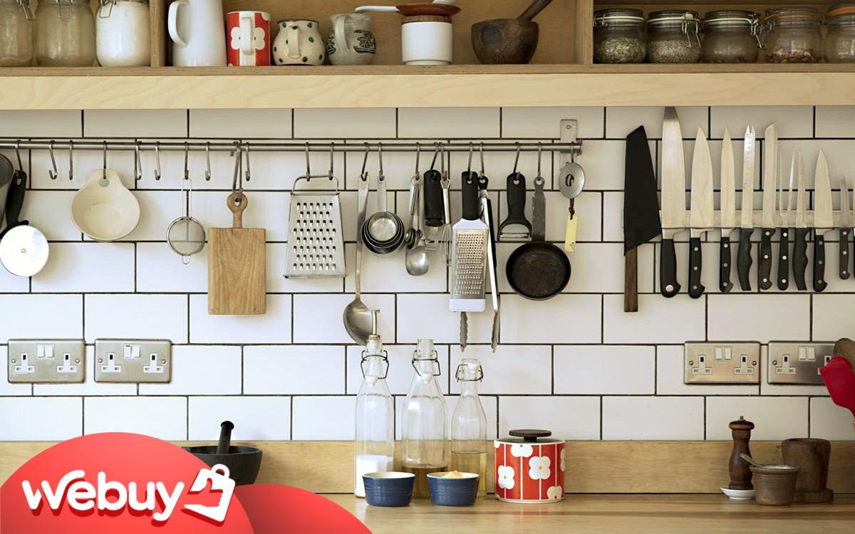 """Cải tạo căn bếp nhỏ, đây là những món đồ chị em nhất định phải dùng để dù lắm đồ lỉnh kỉnh thế nào cũng vẫn """"đâu vào đấy"""""""