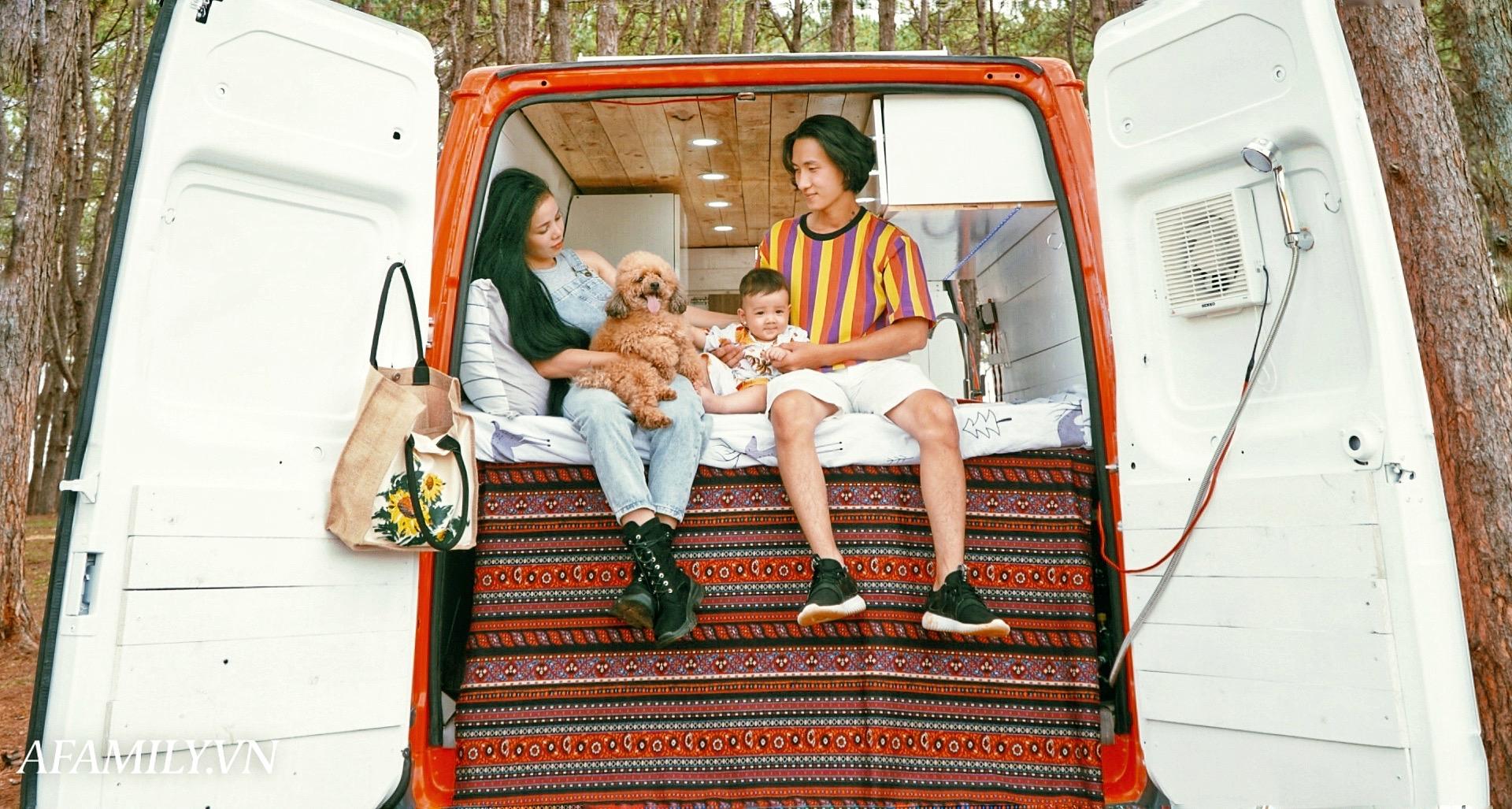Đôi vợ chồng bỏ 120 triệu đồng mua ô tô cũ về làm thành ngôi nhà di động với đầy đủ bếp núc, phòng ngủ rồi chở con đi du lịch khắp Việt Nam! - Ảnh 5.