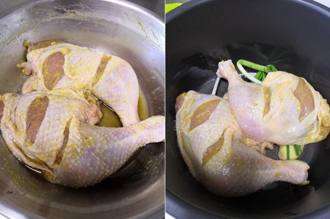 Dùng nồi cơm điện nướng gà thì vừa nhàn lại vừa có món ngon mới toanh ăn tối - Ảnh 4.