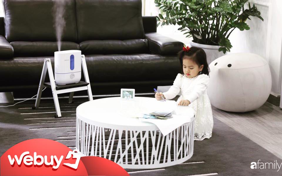 Ngồi điều hòa nhiều sợ khô da và các vấn đề về đường hô hấp, các mẹ hãy sắm ngay những máy tạo độ ẩm không khí này