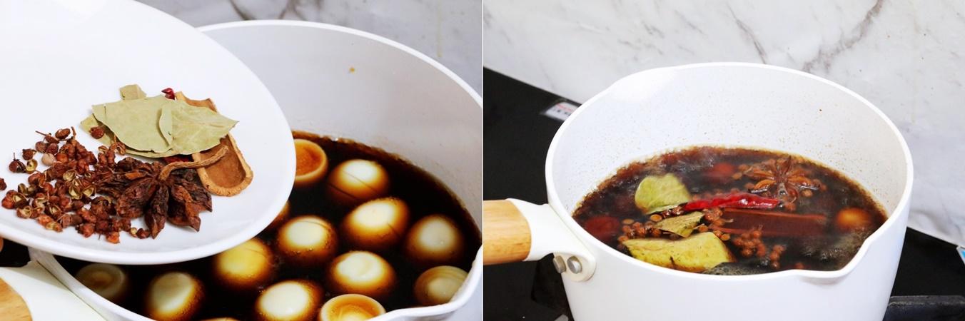 Bữa tối lạ miệng với món trứng cút om mới toanh làm chỉ trong 15 phút - Ảnh 4.