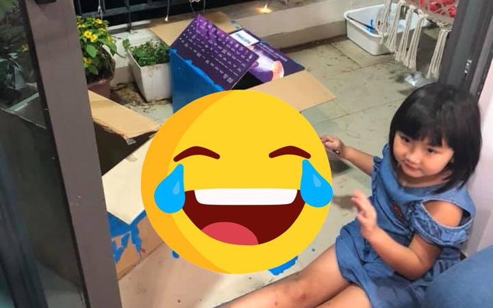 """Chứng kiến màn """"phá nhà"""" của con gái 5 tuổi, bà mẹ Hà Nội lại có hành động bất ngờ khiến ai nấy cũng khen: Tinh thần thép!"""