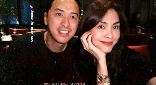 """Tăng Thanh Hà cùng ông xã doanh nhân """"trốn con"""" đi hẹn hò riêng nhưng ghen tị nhất vẫn là dòng trạng thái """"đánh dấu chủ quyền"""" của người đẹp - Ảnh 3."""