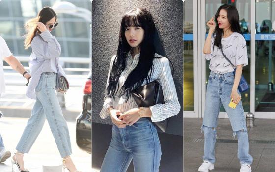 Mix đồ jeans theo các idol Kpop: Chị em có thể ứng dụng từ loạt street style này