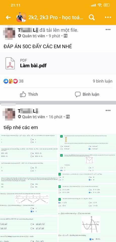 Thầy Toán nổi tiếng bị tố giúp học sinh gian lận trong kỳ thi thử của Sở GD-ĐT Hà Nội, người trong nghề bức xúc: Đây là hành vi trái đạo đức - Ảnh 4.