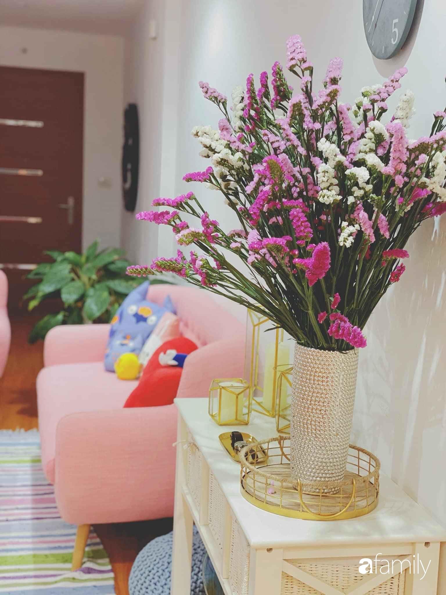Bí quyết decor căn hộ 60m² luôn ngọt ngào và thoảng nhẹ hương thơm dịu dàng ở Hà Nội - Ảnh 8.