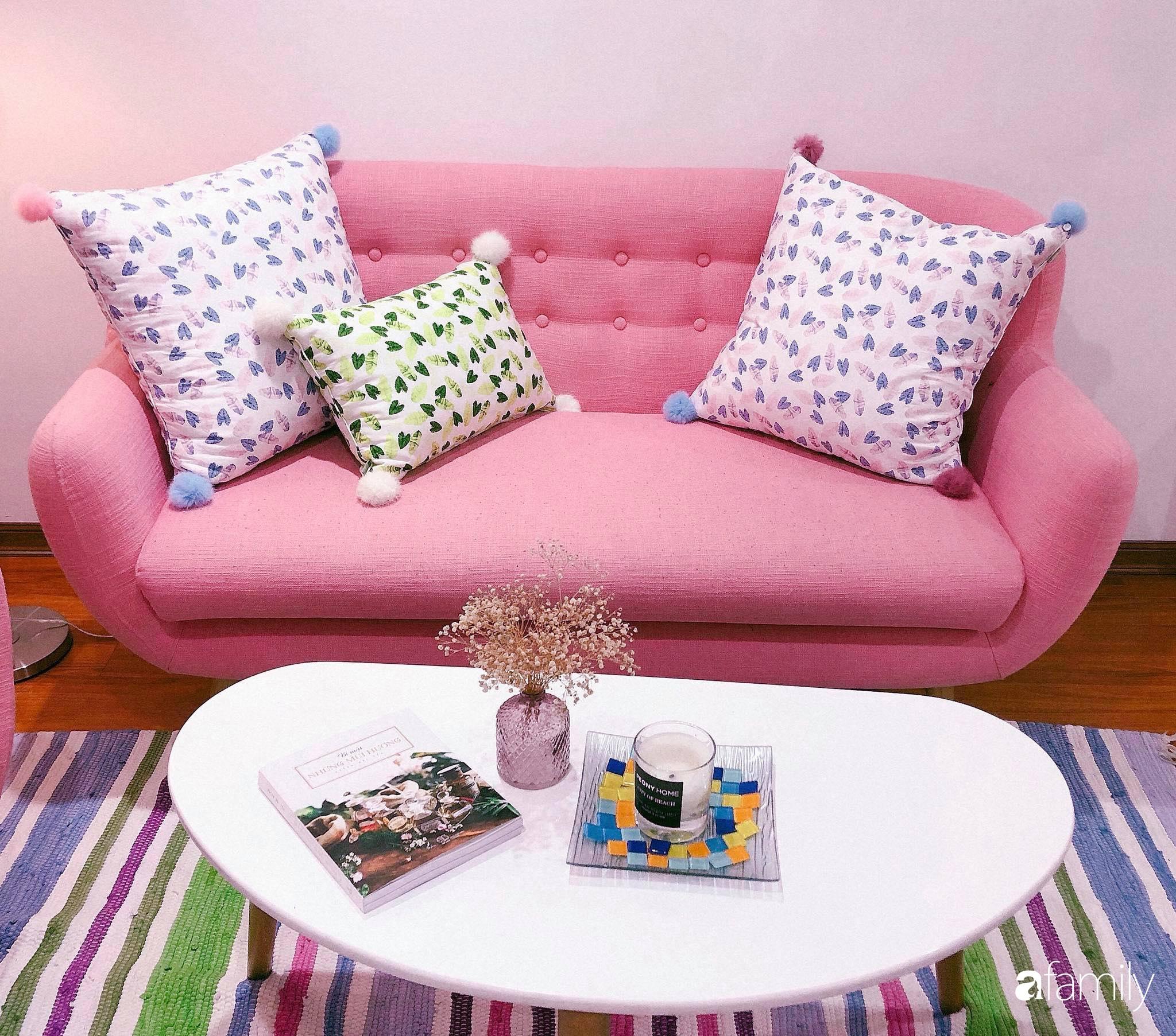 Bí quyết decor căn hộ 60m² luôn ngọt ngào và thoảng nhẹ hương thơm dịu dàng ở Hà Nội - Ảnh 4.