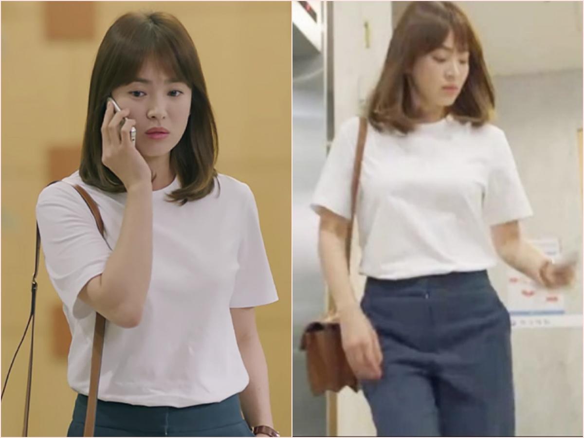 Nhìn dàn sao trong phim Hàn mà học được bao cách lên đồ với áo thun trắng, diện lên mắt mẻ lại vừa sang - Ảnh 1.