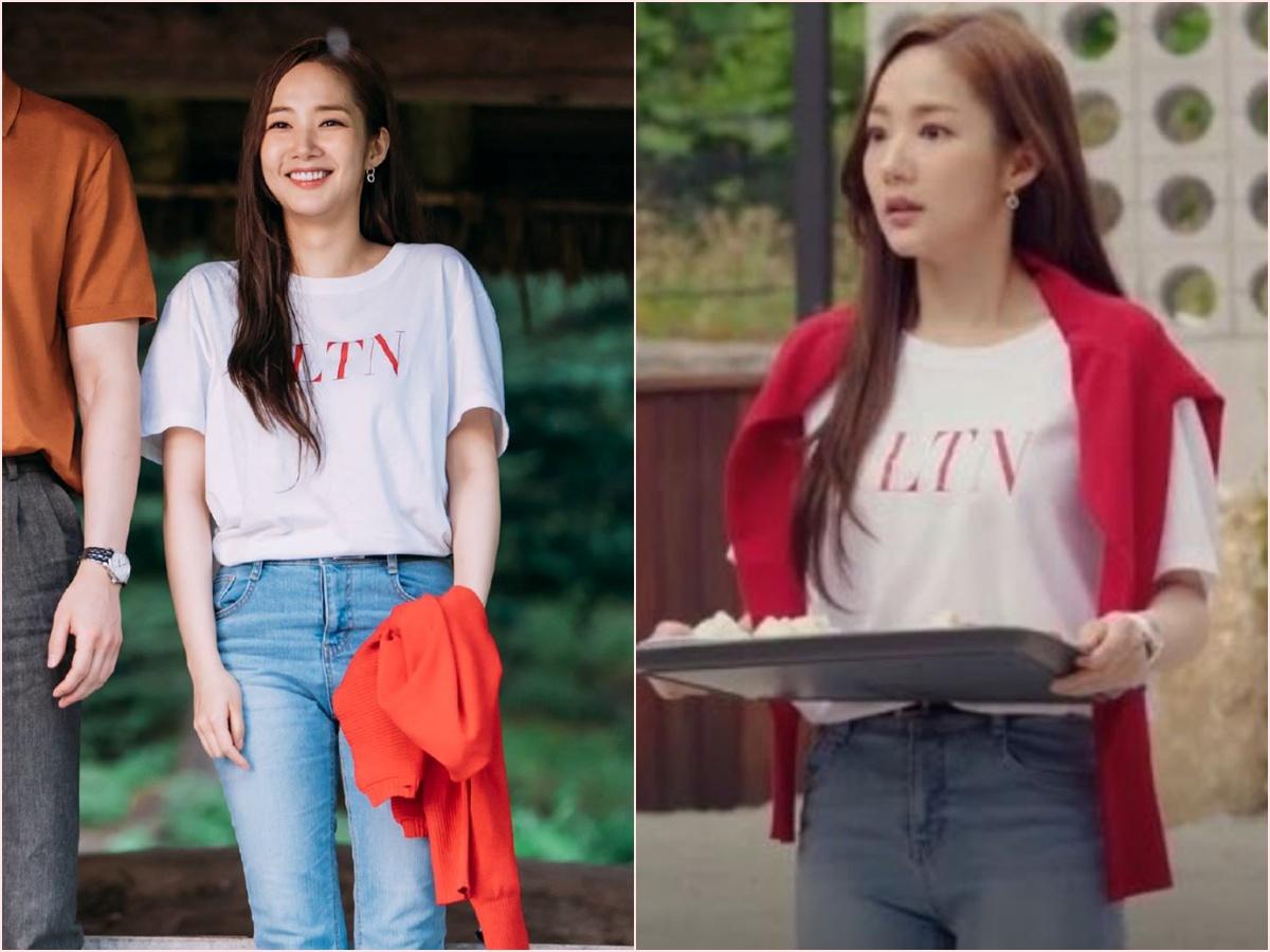 Nhìn dàn sao trong phim Hàn mà học được bao cách lên đồ với áo thun trắng, diện lên mắt mẻ lại vừa sang - Ảnh 3.