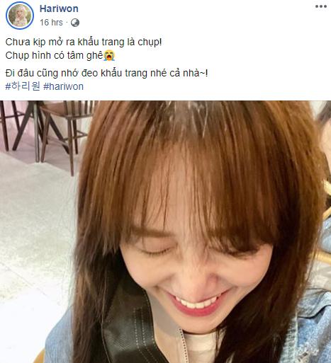 Hari Won lại bị dân mạng nhắc nhở chuyện sử dụng sai trật tự từ ngữ trong tiếng Việt - Ảnh 1.