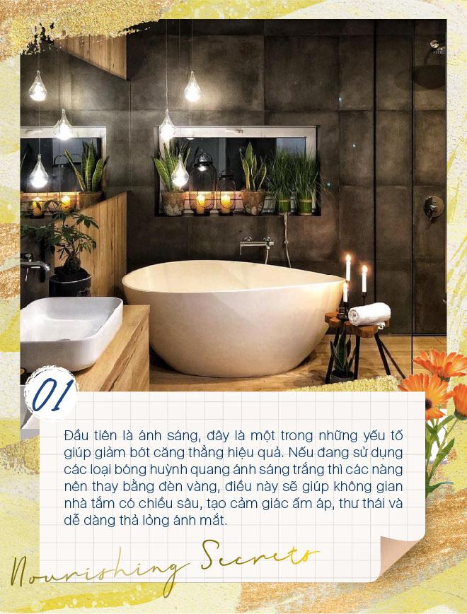 Học lỏm các tips đơn giản mà hiệu quả để biến phòng tắm thành spa tại nhà - Ảnh 1.