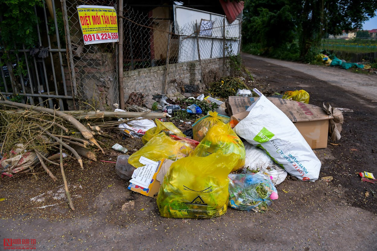 Ngổn ngang rác thải y tế nguy hại đổ bừa bãi tại Hạ Lôi - Ảnh 6.