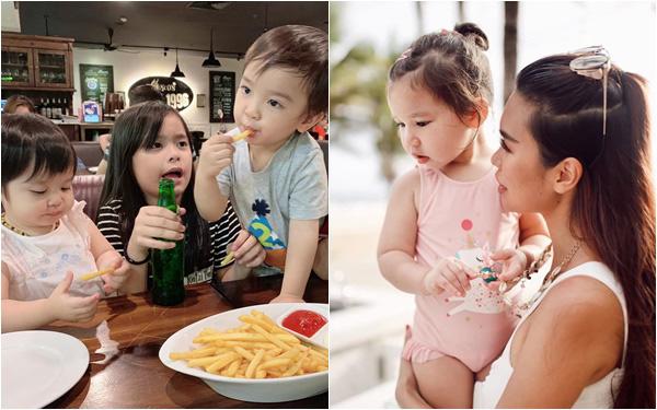 Tết Thiếu nhi 1/6 của các hot kid: Hằng Túi dắt cả đàn con đi ăn, bé Myla ''lạnh lùng'' đầy thần thái đi chụp mẫu cùng mẹ