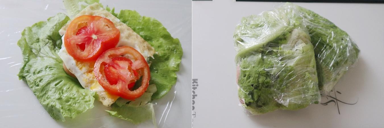 Bữa trưa giảm cân không tinh bột cùng món rau kẹp trứng thịt làm trong nháy mắt mà ăn siêu ngon - Ảnh 3.