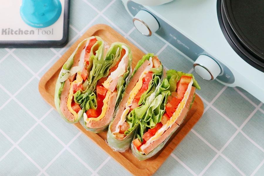 Bữa trưa giảm cân không tinh bột cùng món rau kẹp trứng thịt làm trong nháy mắt mà ăn siêu ngon - Ảnh 4.