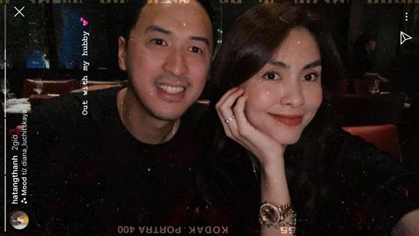 """Hẹn hò ăn tối, Hà Tăng diện đồ đôi đơn giản cùng """"người thương"""" nhưng trên tay lại đeo chiếc đồng hồ tiền tỷ do... bố chồng tặng - Ảnh 1."""