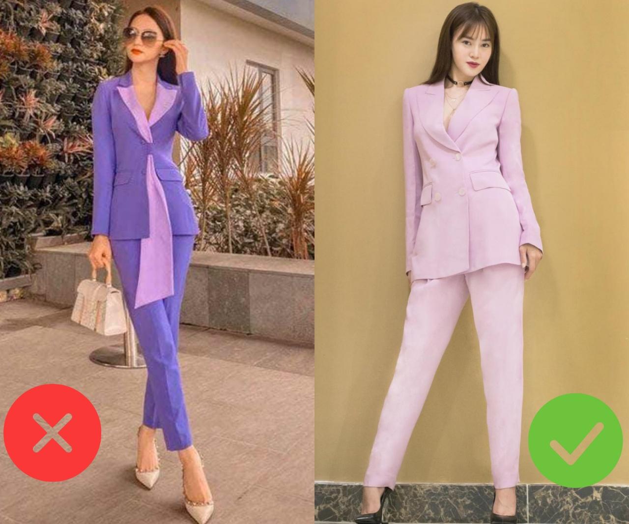 Hot nhất năm nay chính là trang phục màu tím nhưng để diện đẹp mà không sến thì các nàng cần tránh 3 sai lầm sau - Ảnh 2.