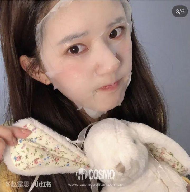 """Mỹ nhân """"Trần Thiên Thiên"""" Triệu Lộ Tư hay bị chê mặt to nhưng nhìn cô đắp mặt nạ thì netizen mới ngã ngửa vì sự thật - Ảnh 7."""