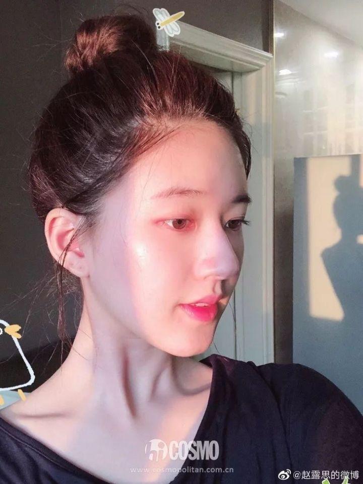 """Mỹ nhân """"Trần Thiên Thiên"""" Triệu Lộ Tư hay bị chê mặt to nhưng nhìn cô đắp mặt nạ thì netizen mới ngã ngửa vì sự thật - Ảnh 9."""