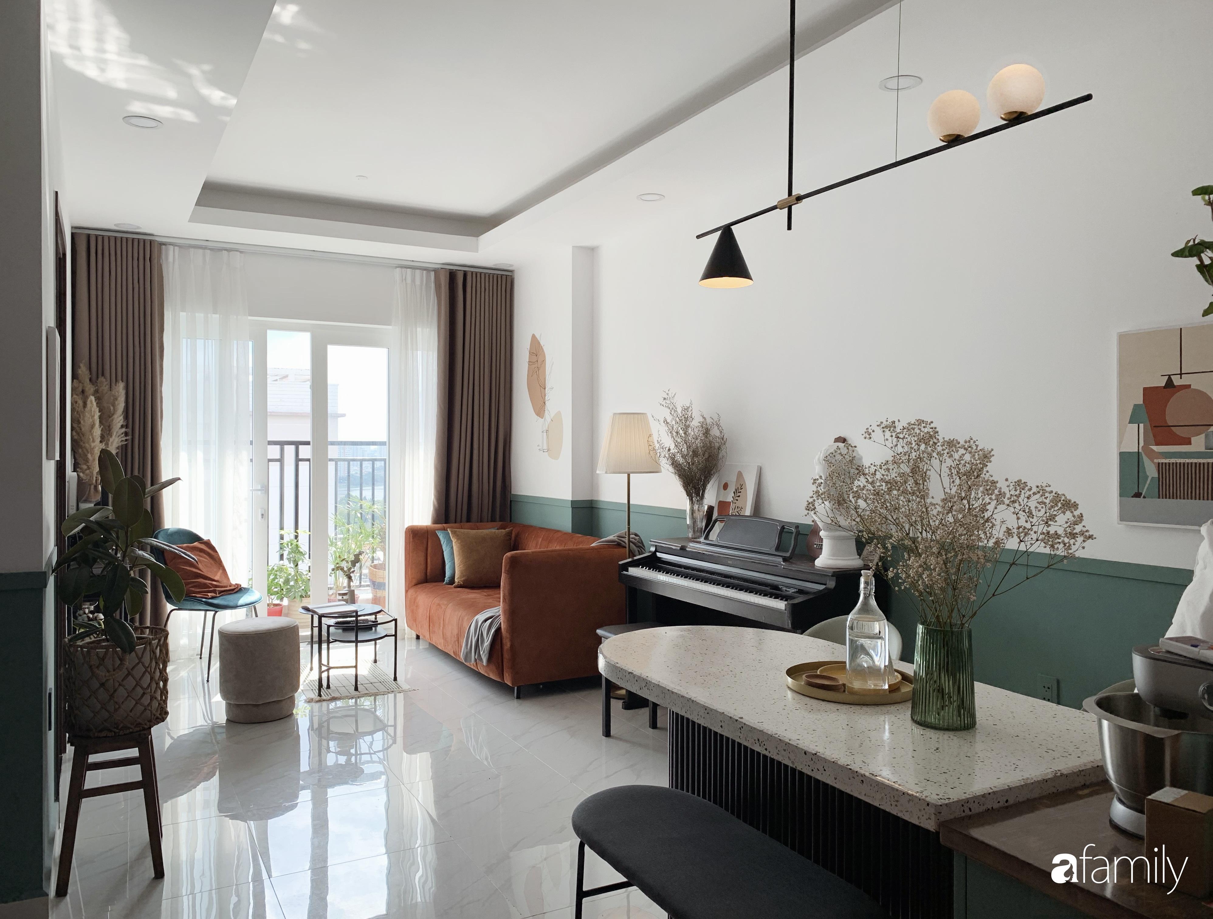Căn hộ 66m² màu cam đất ấm cúng và trẻ trung của cặp vợ chồng trẻ tự tay thiết kế có chi phí 150 triệu đồng ở Sài Gòn - Ảnh 3.