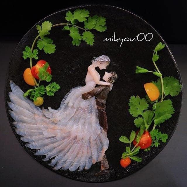 Trầm trồ trước tài nghệ bếp núc đầy nghệ thuật của ông bố Nhật Bản: Biến những lát sashimi đơn điệu thành tranh 3D sống động! - Ảnh 11.