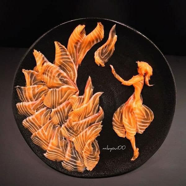 Trầm trồ trước tài nghệ bếp núc đầy nghệ thuật của ông bố Nhật Bản: Biến những lát sashimi đơn điệu thành tranh 3D sống động! - Ảnh 15.