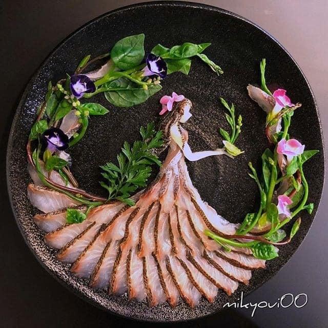 Trầm trồ trước tài nghệ bếp núc đầy nghệ thuật của ông bố Nhật Bản: Biến những lát sashimi đơn điệu thành tranh 3D sống động! - Ảnh 22.