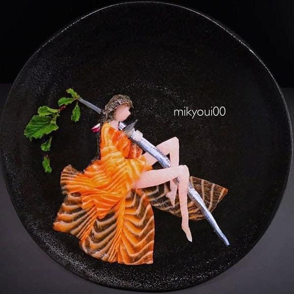 Trầm trồ trước tài nghệ bếp núc đầy nghệ thuật của ông bố Nhật Bản: Biến những lát sashimi đơn điệu thành tranh 3D sống động! - Ảnh 7.