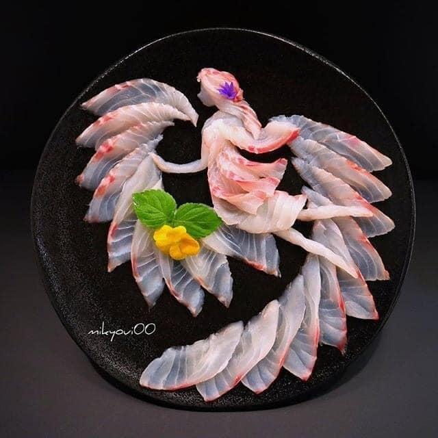 Trầm trồ trước tài nghệ bếp núc đầy nghệ thuật của ông bố Nhật Bản: Biến những lát sashimi đơn điệu thành tranh 3D sống động! - Ảnh 6.