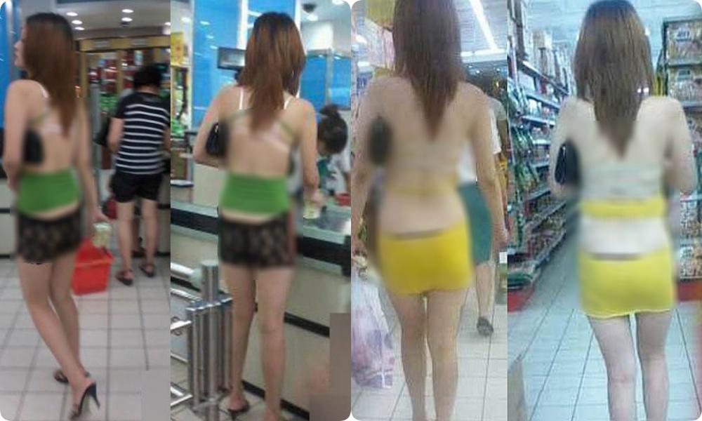 Đi siêu thị mua đồ mà cũng diện váy khoét nọ xẻ kia, những bộ cánh của chị em khiến các anh em phải... câm nín - Ảnh 3.