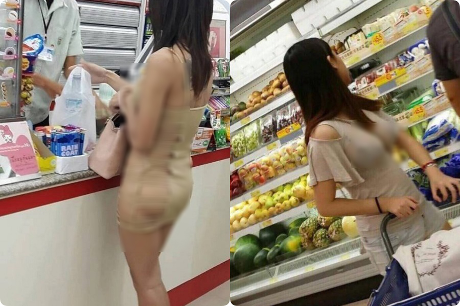 Đi siêu thị mua đồ mà cũng diện váy khoét nọ xẻ kia, những bộ cánh của chị em khiến các anh em phải... câm nín - Ảnh 6.