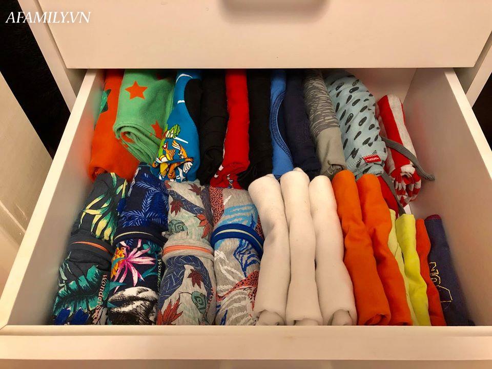 Mê mẩn với tủ quần áo gấp ngăn nắp như trên tạp chí thời trang, tiết lộ danh tính chủ nhân khiến các mẹ phải ngỡ ngàng - Ảnh 4.