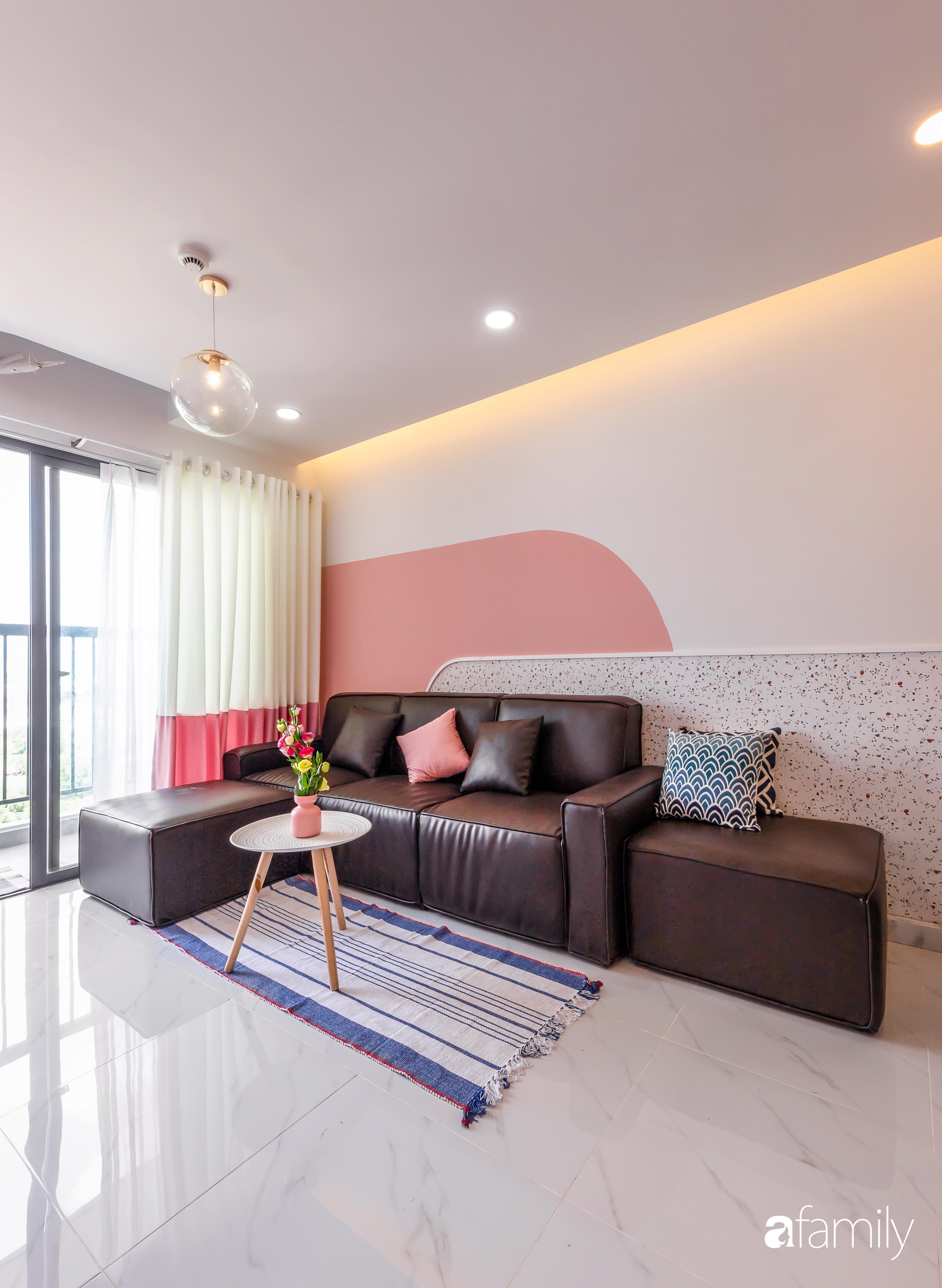 Căn hộ 100m² ngọt ngào khi chọn sắc hồng làm màu chủ đạo có chi phí hoàn thiện 450 triệu đồng ở TP HCM - Ảnh 5.