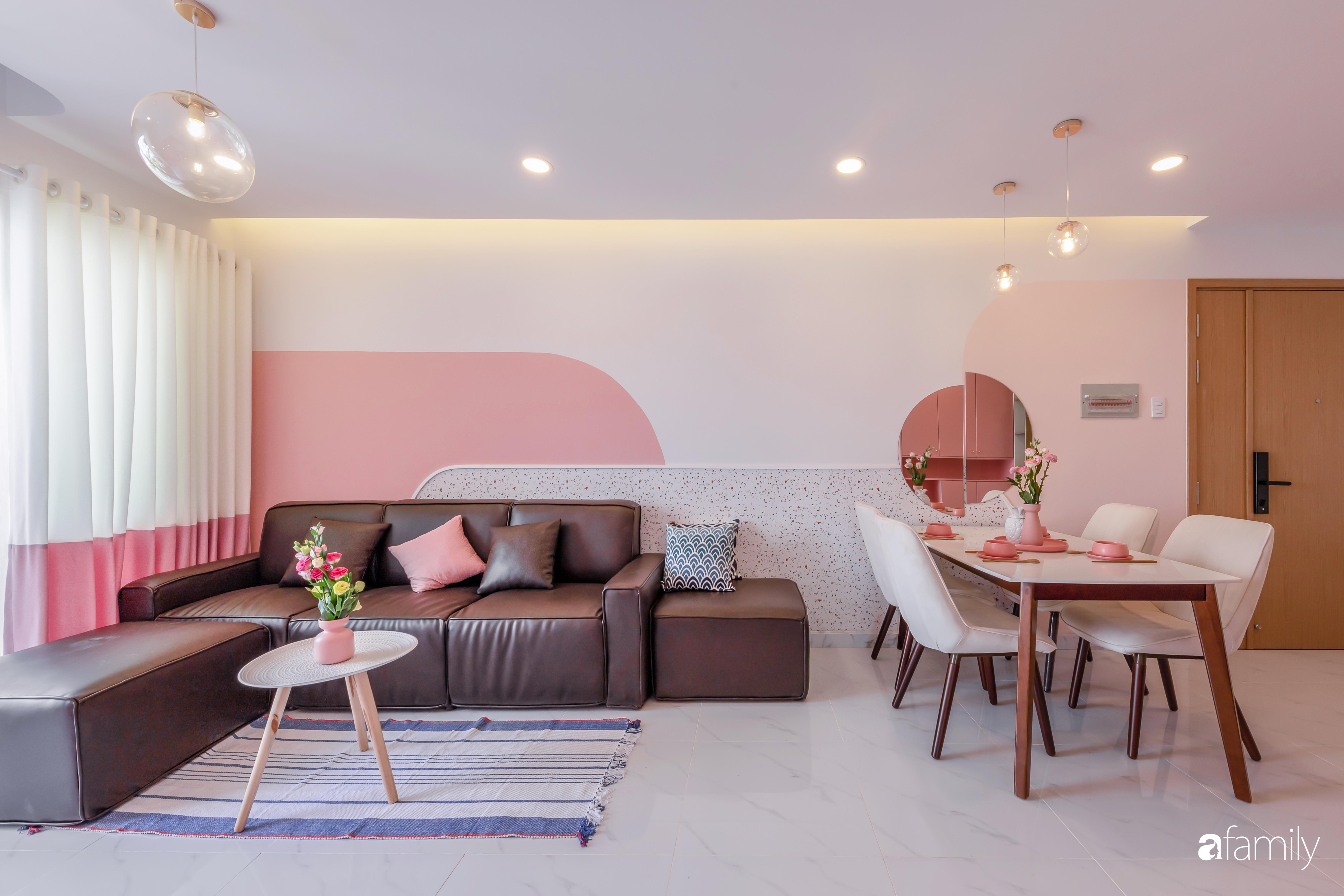 Căn hộ 100m² ngọt ngào khi chọn sắc hồng làm màu chủ đạo có chi phí hoàn thiện 450 triệu đồng ở TP HCM - Ảnh 4.