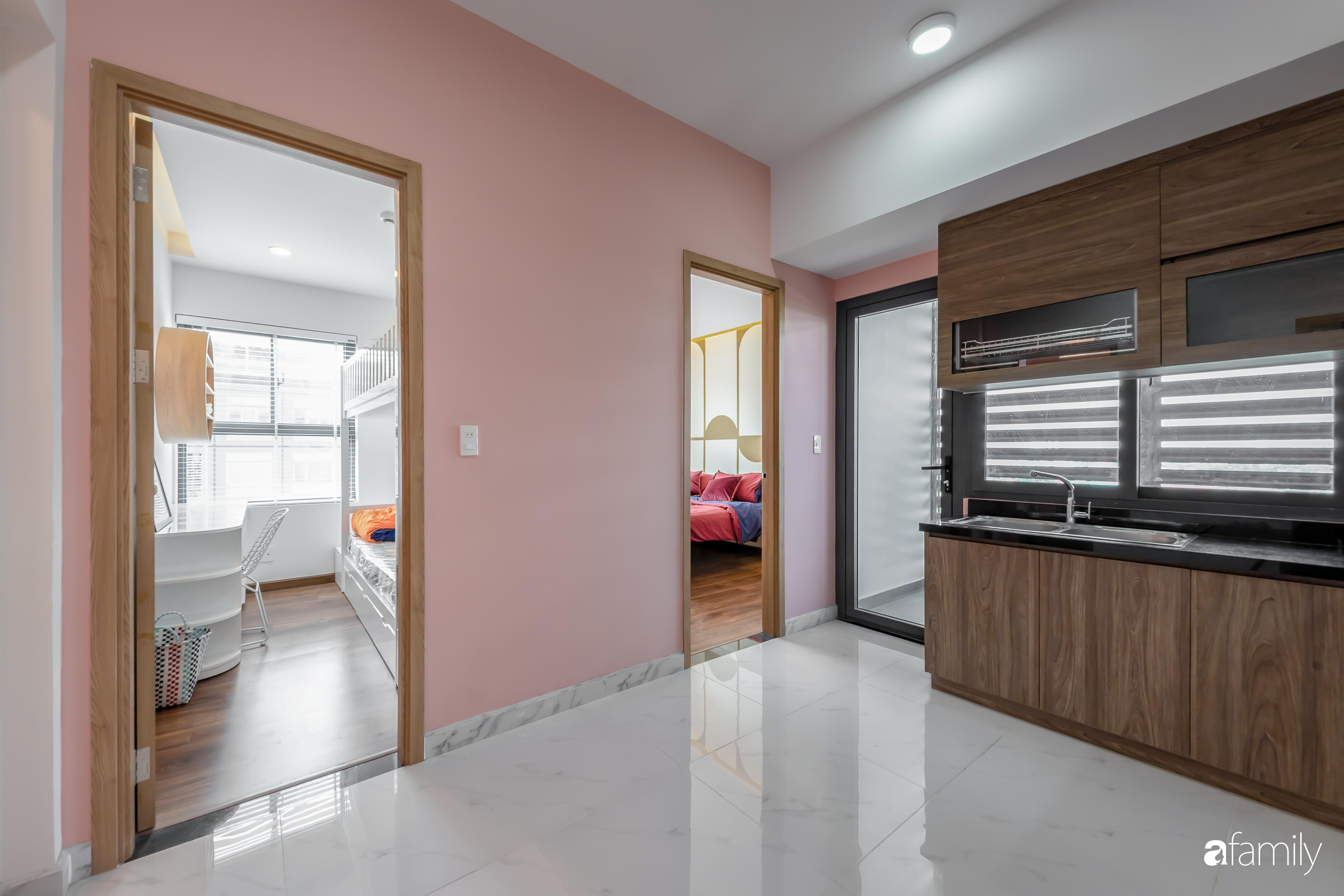 Căn hộ 100m² ngọt ngào khi chọn sắc hồng làm màu chủ đạo có chi phí hoàn thiện 450 triệu đồng ở TP HCM - Ảnh 12.